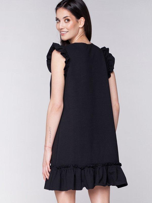Dámske letné šaty Butterfly - čierne  1cb5c0de42e