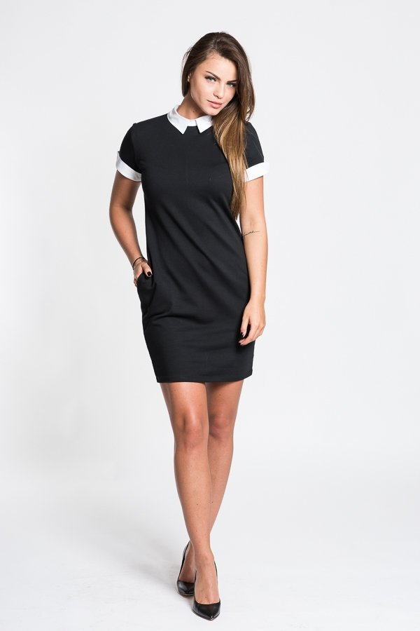 Dámske šaty Attractive Elegance - čierne  7a62575f2a1