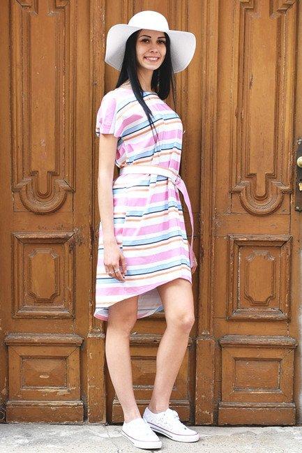 e867c10c72f2 Dámske šaty Oversize ASYMETRIC