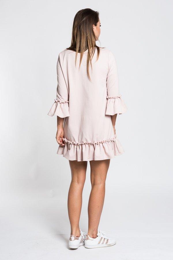 76bf8af1a Dámske šaty, sukne / Dámske šaty s 3/4 rukávom Butterfly - púdrovo ružové