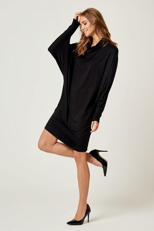 35a8c3c659b5 Dámske šaty s dlhým rukávom Magic - Čierne