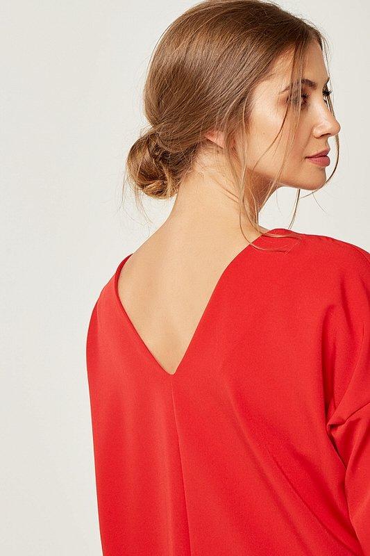 6e059c26ab6f Dámske šaty s dlhým rukávom Zoe - Červené