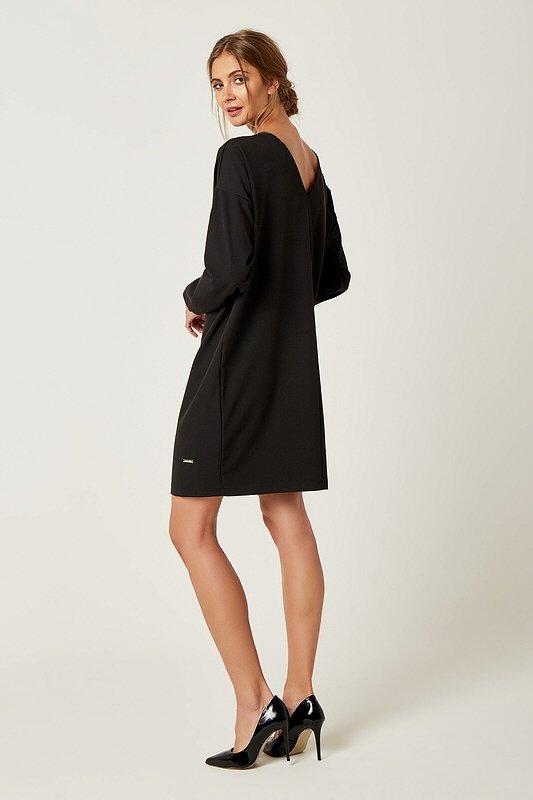 Dámske šaty s dlhým rukávom Zoe - Čierne  19abd7963e3