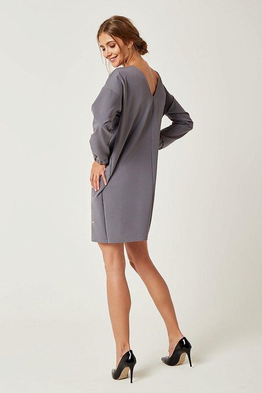 45fc1d83fd Dámske šaty s dlhým rukávom Zoe - Sivé