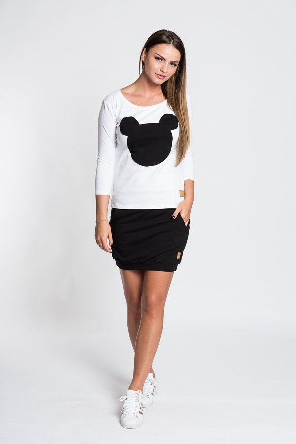 95d1290e798d Dámske tričká a mikiny   Dámske tričko Mouse - biele čierne