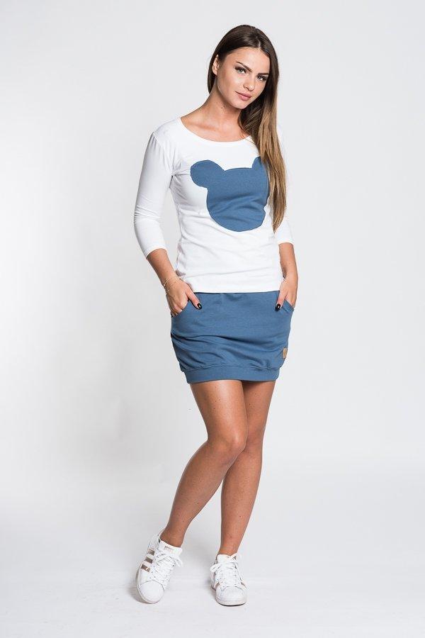 fd991085f7a9 Dámske tričká a mikiny   Dámske tričko Mouse - biele modré