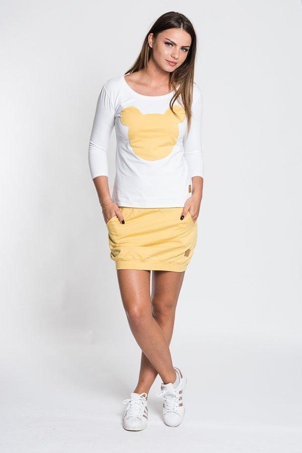 501105ba69b4 Dámske tričká a mikiny   Dámske tričko Mouse - biele žlté