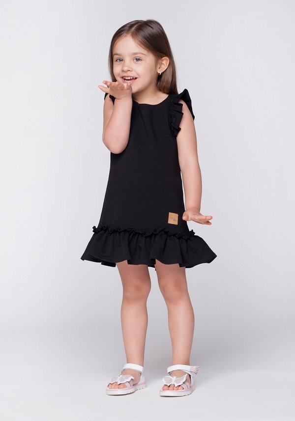 Detské letné šaty Butterfly - čierne  52bb799fa2b
