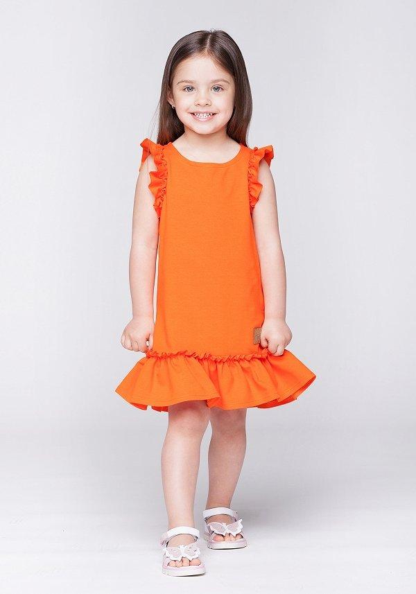 Detské letné šaty Butterfly - oranžové  2fcc6645048