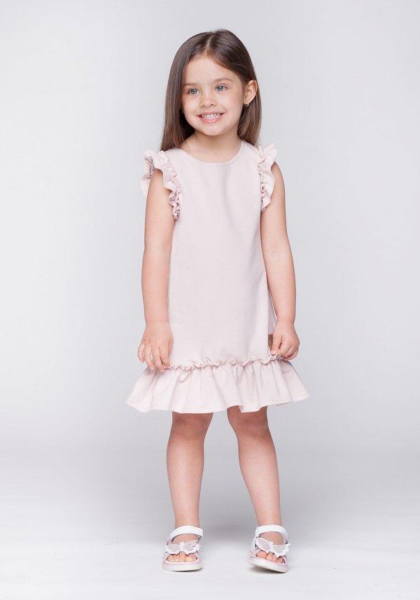 df4db80e36bf Detské letné šaty Butterfly - púdrovo ružové