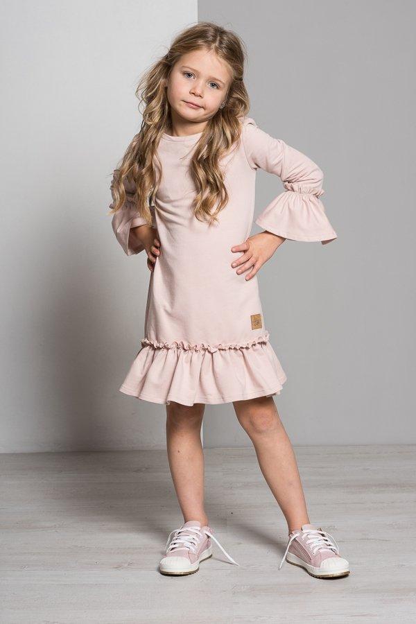 fd810e0ae Set šaty mama a dcéra Butterfly - púdrovo ružové | LUMIDE | lovel.sk ...