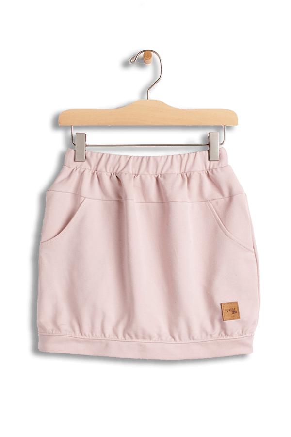 77b2cf1707c1 Dievčenská sukňa s vreckami Basic - púdrovo ružová