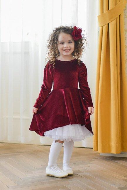 f54afe43e344 Dievčenské točivé šaty Zamat