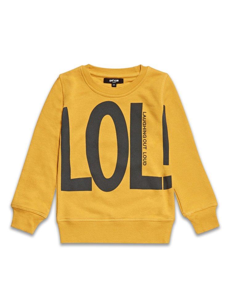 Mikina LOL - horčicová žltá c2777322acf