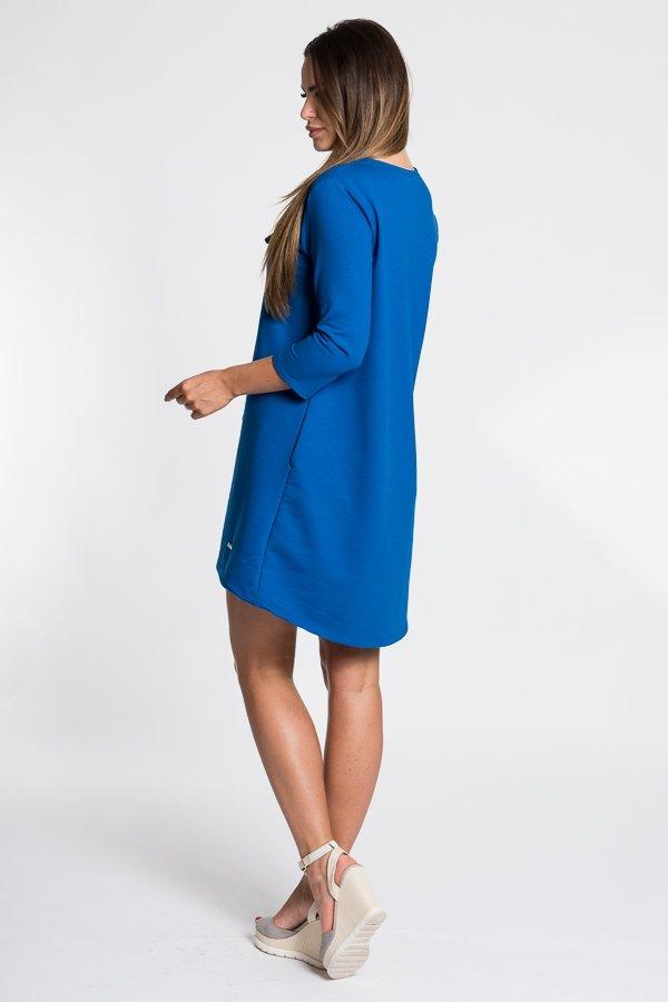 f1ebd1301f69 Romantické dámske šaty s mašľou - modré