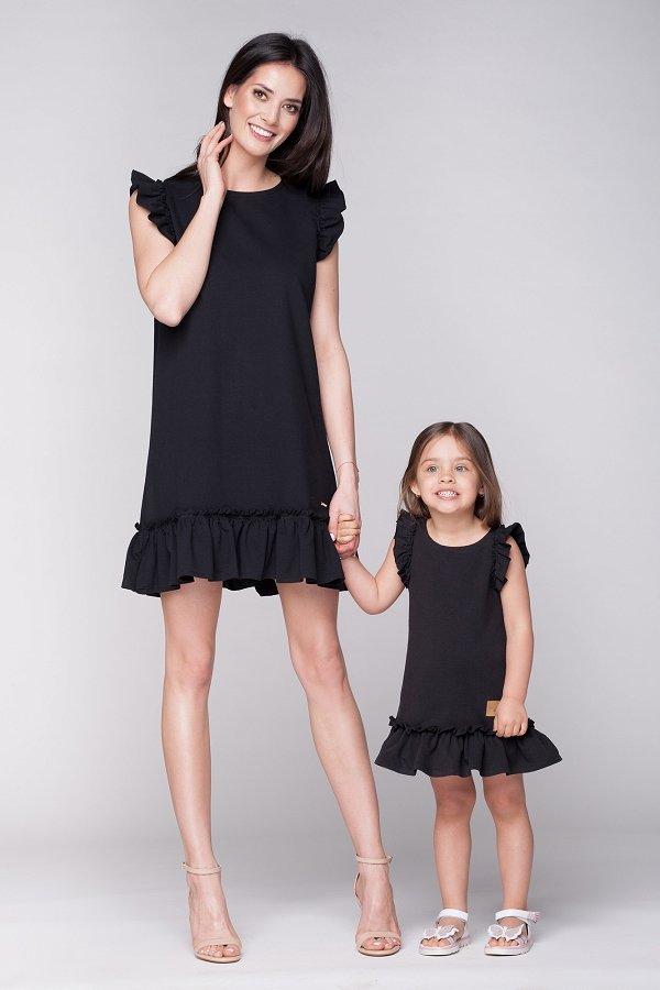Mama a dcéra   Set letné šaty mama a dcéra Butterfly - čierne f0f80f821bf