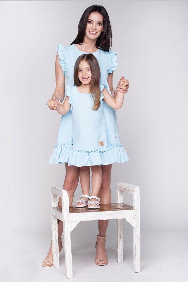 c52089ed17a6 Detské letné šaty Butterfly - nebeské modré