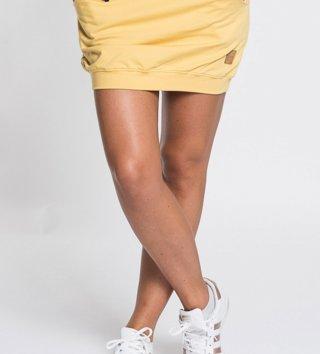 71b5c6b74060 Dámska sukňa s vreckami Basic - žltá