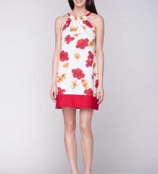 Dámske ľanové šaty Red Flower 6913da9aa9a