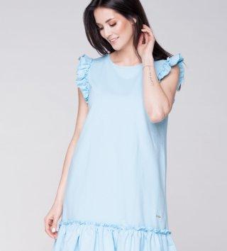 bfcd72898229 Dámske letné šaty Butterfly - nebeské modré