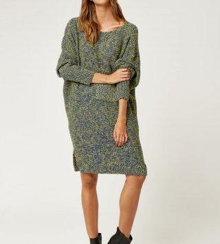 d1662abf9d1f Dámske oversize svetrové šaty - zelené