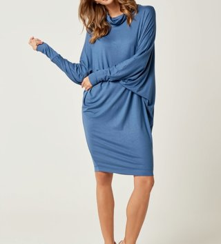 4df24ed41f6f Dámske šaty s dlhým rukávom Magic - Modré