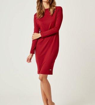 e9a22cf45381 Dámske šaty s dlhým rukávom Sexi Basic - Bordové