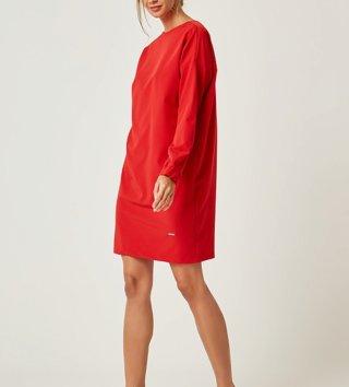 e5bb14c2cf00 Dámske šaty s dlhým rukávom Zoe - Červené