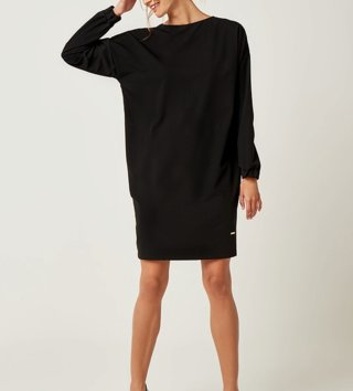 86314bcc4987 Dámske šaty s dlhým rukávom Zoe - Čierne