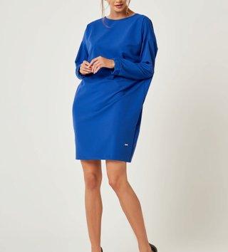 33755909622a Dámske šaty s dlhým rukávom Zoe - Modré