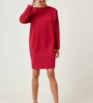 61cb39a2fbb8 Dámske šaty s dlhým rukávom Zoe - Ružové