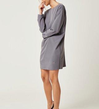 3ca7517f7206 Dámske šaty s dlhým rukávom Zoe - Sivé