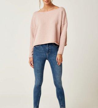 1c9677978a27 Dámsky sveter Lea - Púdrovo ružový