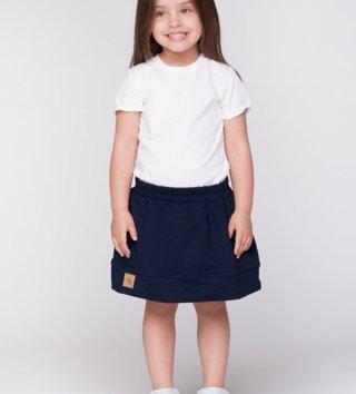 4a0f4cbe8781 Detská bavlnená sukňa Navy