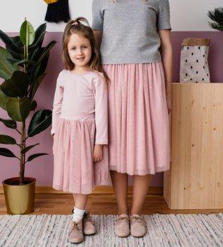 0e32eab89da2 Set Tutu sukňa mama a dcéra - Púdrovo ružová