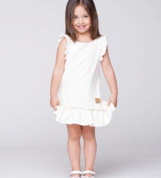 d287dd5ddfef Detské letné šaty Butterfly - krémové