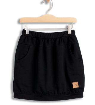 5fafac57b743 Dievčenská sukňa s vreckami Basic - čierna