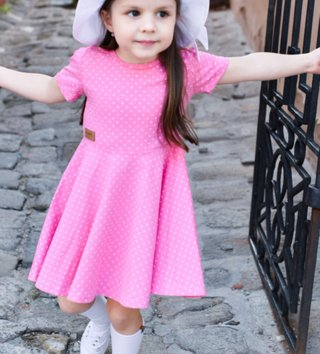 e96117c2ce2d Dievčenské točivé šaty Basic SWEET