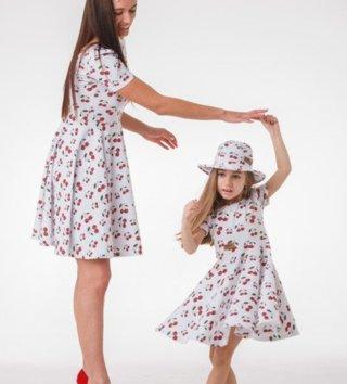 2f55889ca894 Set šaty mama a dcéra - Cherry