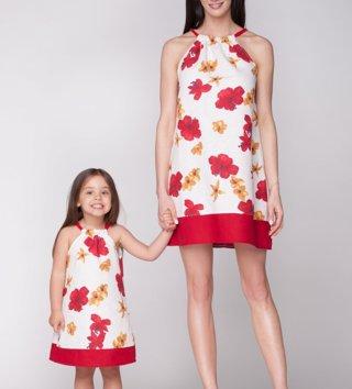 b884ed4e078d Set šaty mama a dcéra Red Flower