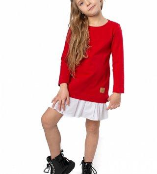 7c9782b05cc3 Štýlové detské voľnočasové šaty Be happy - Červené